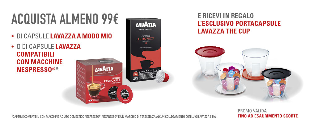 Omaggio portacapsule Lavazza The Cup
