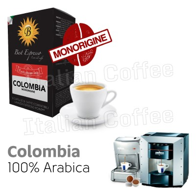 12 capsule caffe Best Espresso Monorigine Colombia compatibili Lavazza Espresso Point