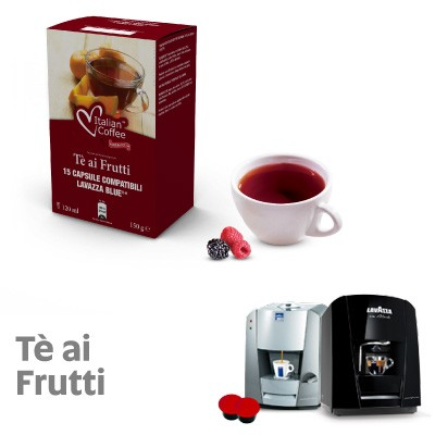 15 capsule Italian Coffee Te ai Frutti compatibili Lavazza Blue e In Black Nims