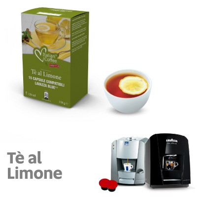 15 capsule Italian Coffee Te al Limone compatibili Lavazza Blue e In Black Nims