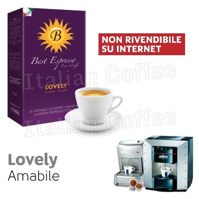 25 capsule caffè Best Espresso Lovely compatibili Lavazza Espresso Point