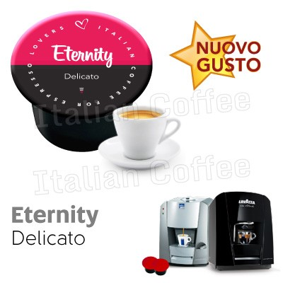 50 cialde capsule Italian Coffee Eternity compatibili Lavazza Blue e In Black Nims