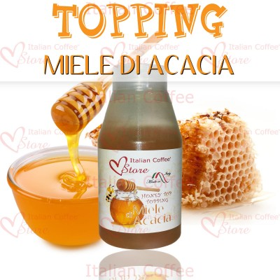 Miele honey topping 180 Gr Italian Coffee puro miele di acacia
