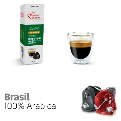 10 capsule Caffè Brasil 100% Arabica compatibili Sistemi Caffitaly System-Professional-Coffee For You*