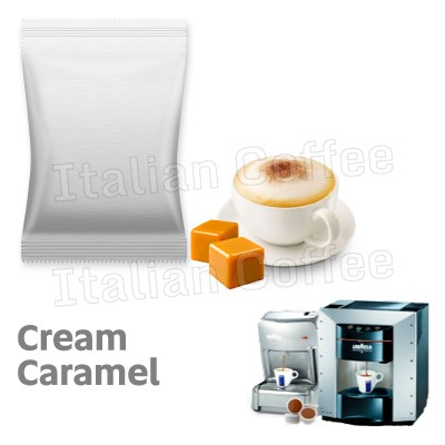 50 capsule Mini Caramel Mou Italian Coffee compatibili Lavazza Espresso Point