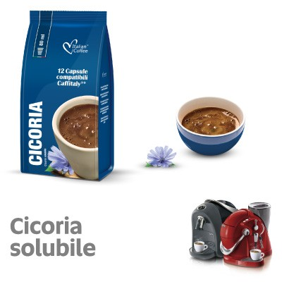 12 capsule ItalianCoffee Caffè Cicoria Solubile Sistemi Caffitaly System-Professional-Coffee For You*