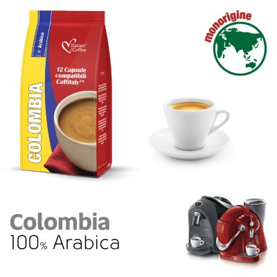 12 capsule Caffè Colombia 100% Arabica compatibili Sistemi Caffitaly System-Professional-Coffee For You*
