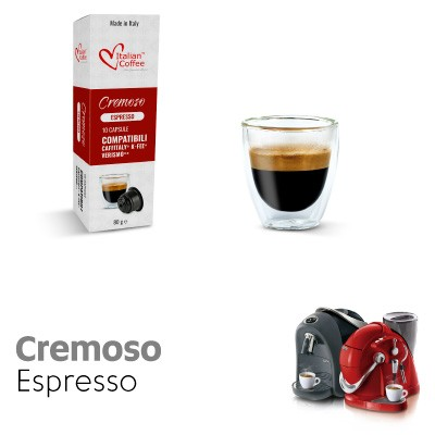 10 capsule Caffè Cremoso compatibili Sistemi Caffitaly System-Professional-Coffee For You*