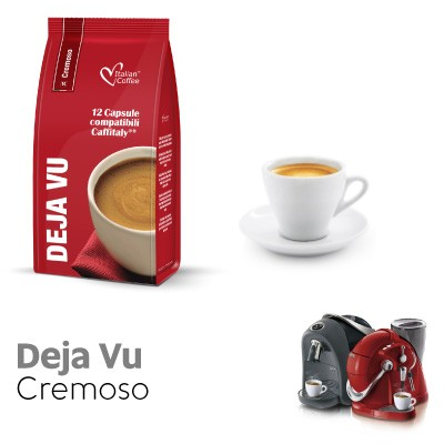 12 capsule Italian Coffee Caffè DejaVu compatibili Sistemi Caffitaly System-Professional-Coffee For You*