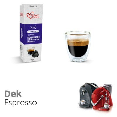 10 capsule Caffè Decaffeinato compatibili Sistemi Caffitaly System-Professional-Coffee For You*