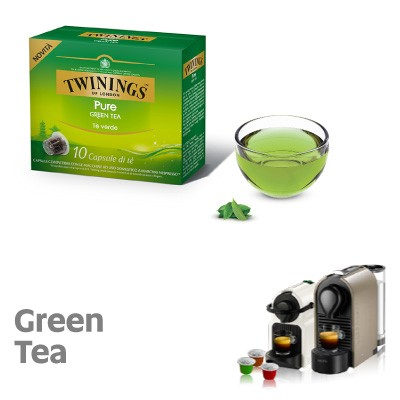 10 Capsule Twinings compatibili Nespresso Pure Green Tea