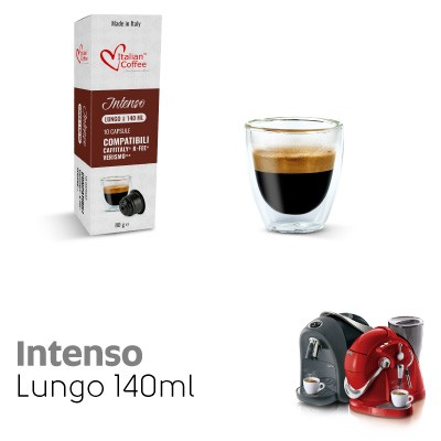 10 capsule Caffè Lungo Intenso compatibili Sistemi Caffitaly System-Professional-Coffee For You*