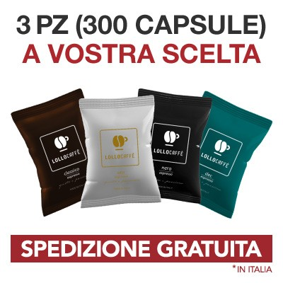 300 capsule compatibili Lavazza Espresso Point Lollo Caffé