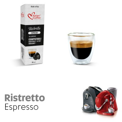 10 capsule Caffè Ristretto compatibili Sistemi Caffitaly System-Professional-Coffee For You*