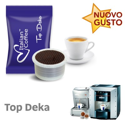 50 capsule caffe Italian Coffee Top Deka Selection compatibili Lavazza Espresso Point