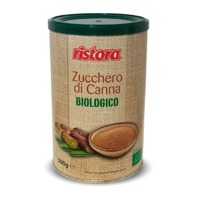 Zucchero di Canna Biologico Ristora in Lattina da 500 gr